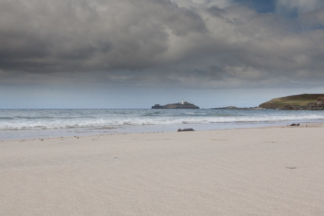 open on white sandy beach