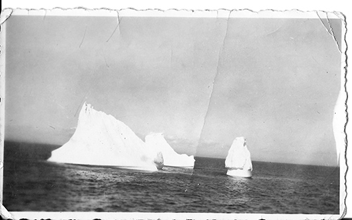 icebergs at sea