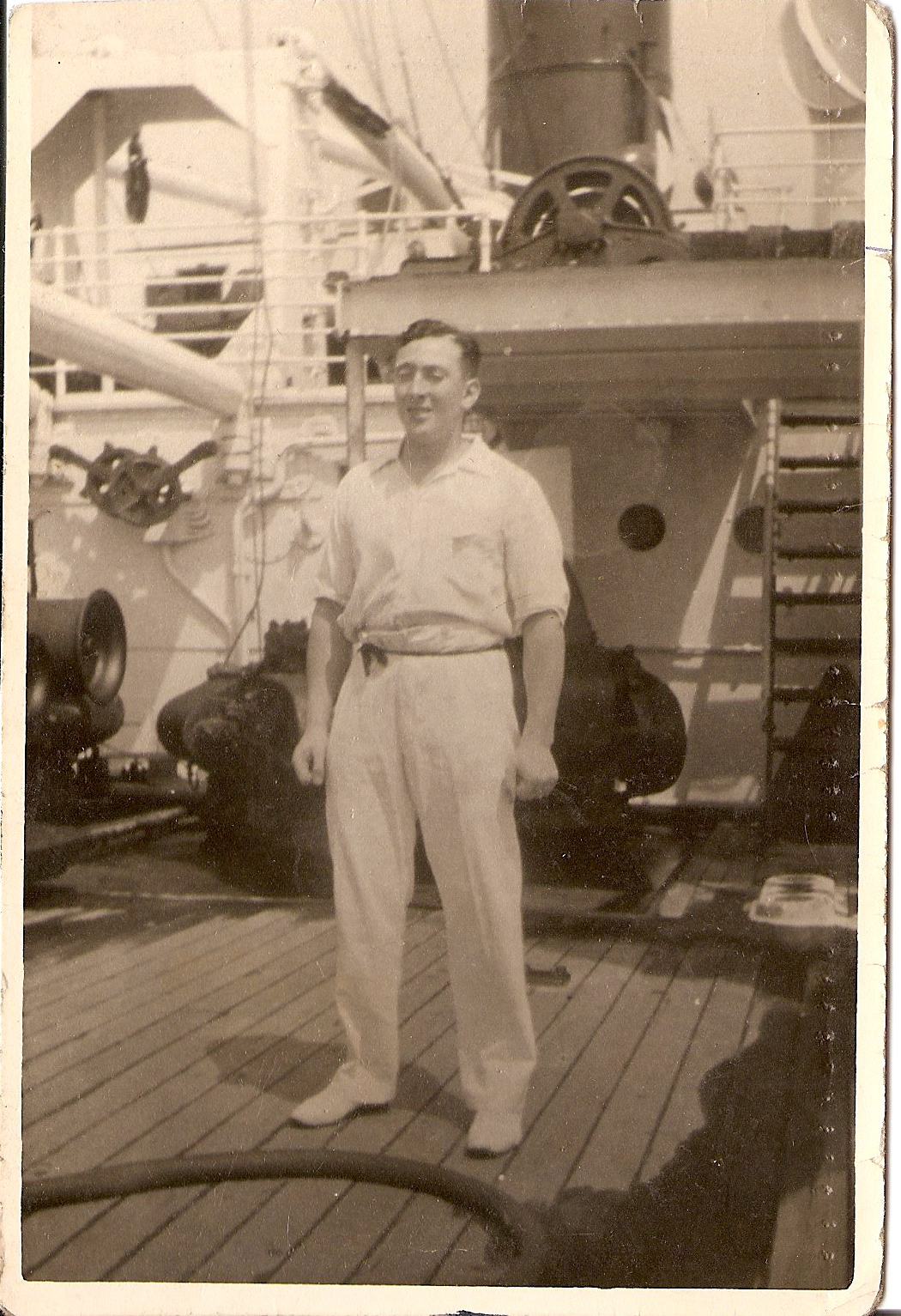 George Robertson at Sea